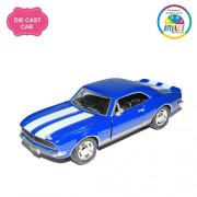 Smiles Creation Kinsmart 1:37 Scale 1967 Chevrolet Camaro Classic Car Toys, Blue (5-inch)