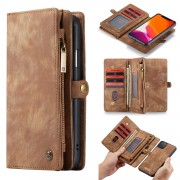CASEME for iPhone 11 Pro Max 6.5 inch (2019) 008 Series Detachable 2-in-1 Split Leather Wallet Phone Case - Brown