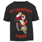 M-My Grandma is a biker motorcycle toddler baby childrens kids t-shirt 100% cotton