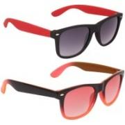 David Martin Wayfarer Sunglasses(Red, Grey)