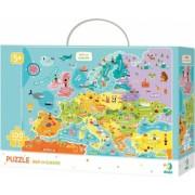 Puzzle - Descopera Europa 100 piese