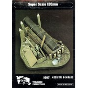 Verlinden Verlinden 120mm Medieval Bombard Muzzle-loading Cannon - Resin Detail Set #1087