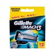 Gillette Mach3 rezerve aparat de ras 12 buc pentru bărbați