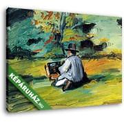 Paul Cézanne: Festő munka közben (35x25 cm, Vászonkép )
