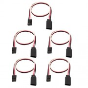 Tradico® 5Pcs 250mm Male to Female JR RC Quadcopter Servo Extension Lead Wire Cable