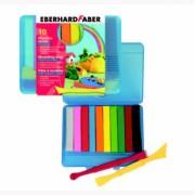 Plastilina 10 culori cutie plastic Eberhard Faber