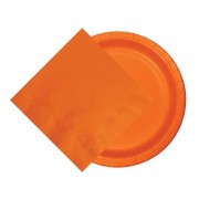 Merkloos Oranje thema tafel versiering pakket 8 borden/20 servetten EK/Bevrijdingsdag/Koningsdag/WK