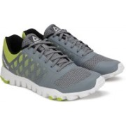 REEBOK REALFLEX TR Training Shoes For Men(Grey, Green)