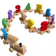Fancy shoppee Digital Number 0-9 Train Toy Set Wooden   Fun Learning Building Blocks   Early Educational Kids 3+ Years