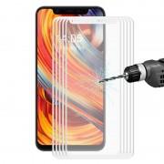 Xiaomi 5 pc's ENKAY Hat-Prins 0.2mm 9H 3D volledig scherm koolstofvezel getemperd glas Film voor Xiaomi Mi 8(White)