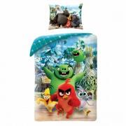 Lenjerie din bumbac, pentru copii Angry BirdsMovie 2, albastru, 140 x 200 cm, 70 x 90 cm