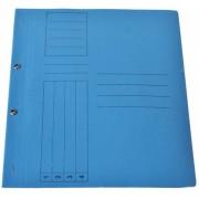 Dosar din carton cu capse 1/1 albastru tip L