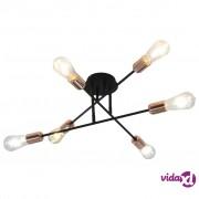 vidaXL Stropna svjetiljka sa žaruljama sa žarnom niti 2 W crno-bakrena