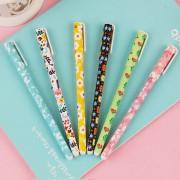 6 pcs/set Cute pens 0.38mm ballpoint pens Black color gel pen set Cartoon kitty Office accessories School supplies Long 15cm