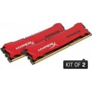 Memorie HyperX Savage 8GB Kit 2x4GB DDR3 1600MHZ CL9 Red