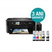 Multifunctional inkjet color CISS Epson L850, format A4 (Printare, Copiere, Scanare)
