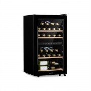 Klarstein Barossa 34 Duo, охладител за вино, 2 зони, 34 бутилки, стъклени врати, сензорен (HEA8-Barossa-29)