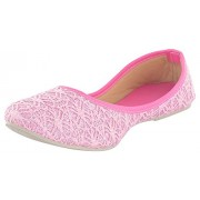 Tamanna Ethinic Pink Girl Shoes, shoes for girls, girls shoes, shoes for women, women shoes, women footwear, juti for girls, bellies for women, footwear for women, bellies for girls, casual shoes, casual shoes for women, woman shoes, shoe for girls