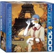 Eurographics Puzzle 1000 piese Paris Adventure-Helena Lam (mic)