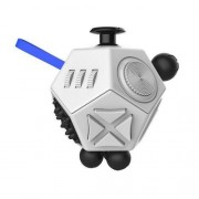 12 Sides Fidget Cube Generation 2 Decompression Toy Desk Magic Dice Funny Relieves Anxiety and Stress Toys Creative Gift for Adults and Children(White)