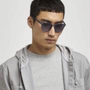 river island Mens Navy retro square sunglasses (One Size)