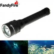 Fandyfire XM-L2 U2 3-LED 3-Mode linterna de buceo blanco frio - negro