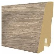 Plinta MDF Egger 60x17 mm, 2,4 m, culoare Stejar Knoxville gri