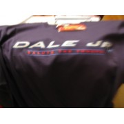 Classic Patriotic Dale Earnhardt Jr #8 Budweiser Bud Stars & Stripes Red White Blue Salute The Troops Special Paint Scheme Monte Carlo Dark Blue 2 Sided Crew Neck Short Sleeve Shirt Winners Circle Size Large