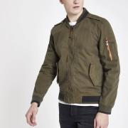 Superdry Mens Superdry Khaki bomber jacket (XL)