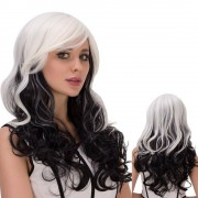 rosegal Long Ombre Inclined Bang Wavy Synthetic Lolita Wig