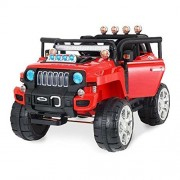 GetBest Monster Suv Ride on Jeep for Kids with 12V Battery and Remote contrrol, White