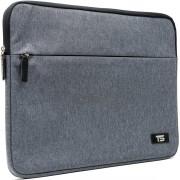 """Tech Supplies - MTSX15 Business Selection Sleeve voor 15 Inch Laptop, geschikt voor de Apple Macbook Air / Pro of andere laptops van 15.6"""" Extra stevige binnenvoering Bescherming met handvat aan de achterkant Cover Hoes Case Grijs"""