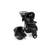 Carrinho De Bebê Com Bebê Conforto Travel System Off Road Duo Onyx Infantil