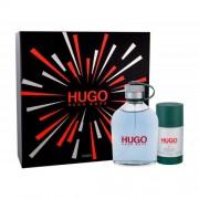 HUGO BOSS Hugo Man set cadou EDT 200 ml + Deodorant stick 75 ml pentru bărbați