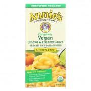 Annie's Homegrown Organic Gluten Free Vegan Elbows and Creamy Sauce Rice Pasta Dinner - Case of 12 -