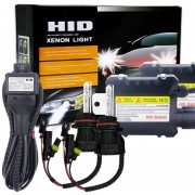 55W 9004 / 9007 / HB1 / HB5 6000K HID Xenon Conversion Kit Con Descarga De Alta Intensidad, Alloy Slim Lastre, White