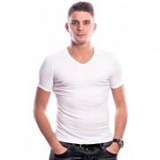 Beeren Men T-Shirt V-Hals Wit (3 pack) ( extra lang)