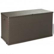 vidaXL Caixa de arrumação para jardim 420 L castanho
