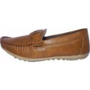 TOIZ MEN ORANGE LOAFER CASUAL SHOES Loafers For Men(Brown)