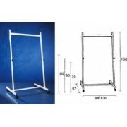 Stand metalic SMIT 140 cm latime 150 cm inaltime pe rotile 3 pozitii fixe