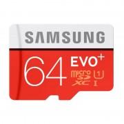 Card Samsung microSDXC EVO Plus 64GB Clasa 10 UHS-I 80MB/s cu adaptor