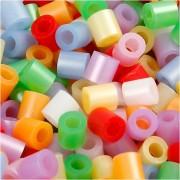 Nabbi Rörpärlor, medium, stl. 5x5 mm, 1100 mix., pärlemorsfärger