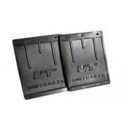 UNITRAILER Set: twee grote rubberen spatlappen Unitrailer voor spatborden van aanhangwagens