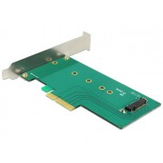 DeLock PCI Express x4 Kártya > 1xbelső NVMe M.2 Key M 110 mm - alacsony profilú formatényező 89472