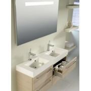 Ansamblu mobilier Riho cu lavoar dublu 120cm gama Smartline, Set 77 Silk