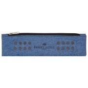Etui Instrumente De Scris Grip Melange Albastru Faber-Castell albastru Neechipat Clasele 3-4 Penar