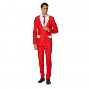 SuitMeister Heren pak met Kerstman kostuum print M (48-50) - Carnavalskostuums