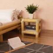 vidaXL természetes bambusz éjjeliszekrény 40 x 40 x 40 cm