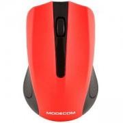 Безжична мишка Modecom WM9, Оптична, Черно и червено, MDC00085