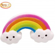 Jumbo Kawaii Smiley Rainbow Squishy Slow Rising Simulation Bread Cake Squishies Soft Scented Stress Relief Squeeze Toys For Kids